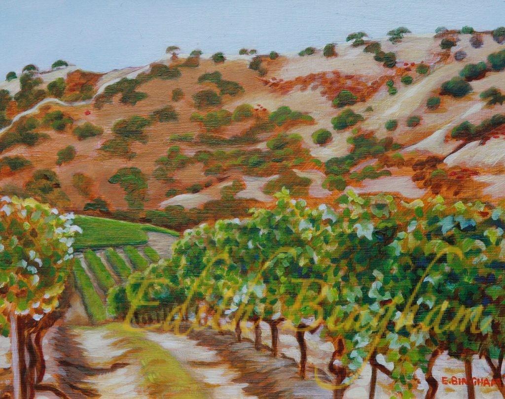 """California Vineyard"", 12x16, oil on board"