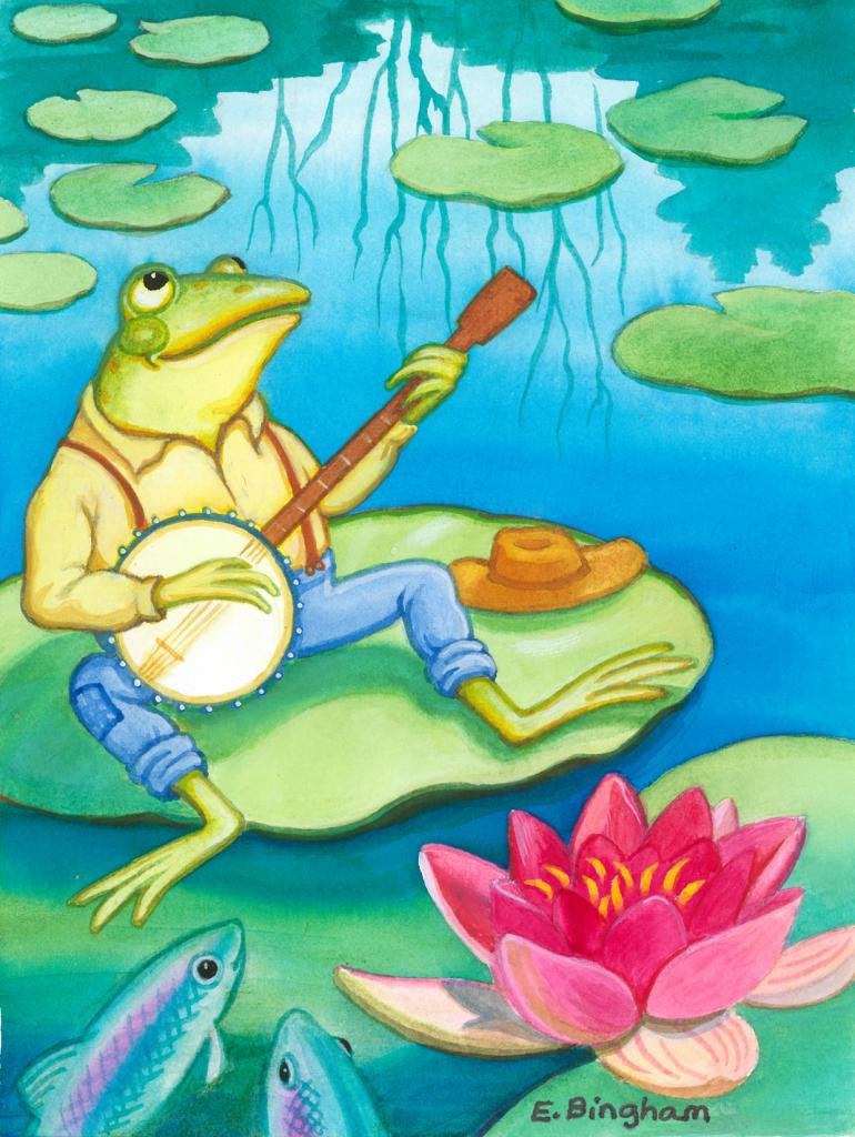"""""""Froggy"""", Gouache"""