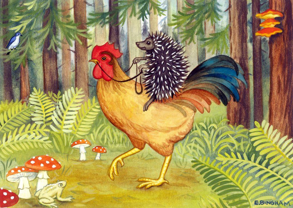 """Hans the Hedgehog"", Gouache"