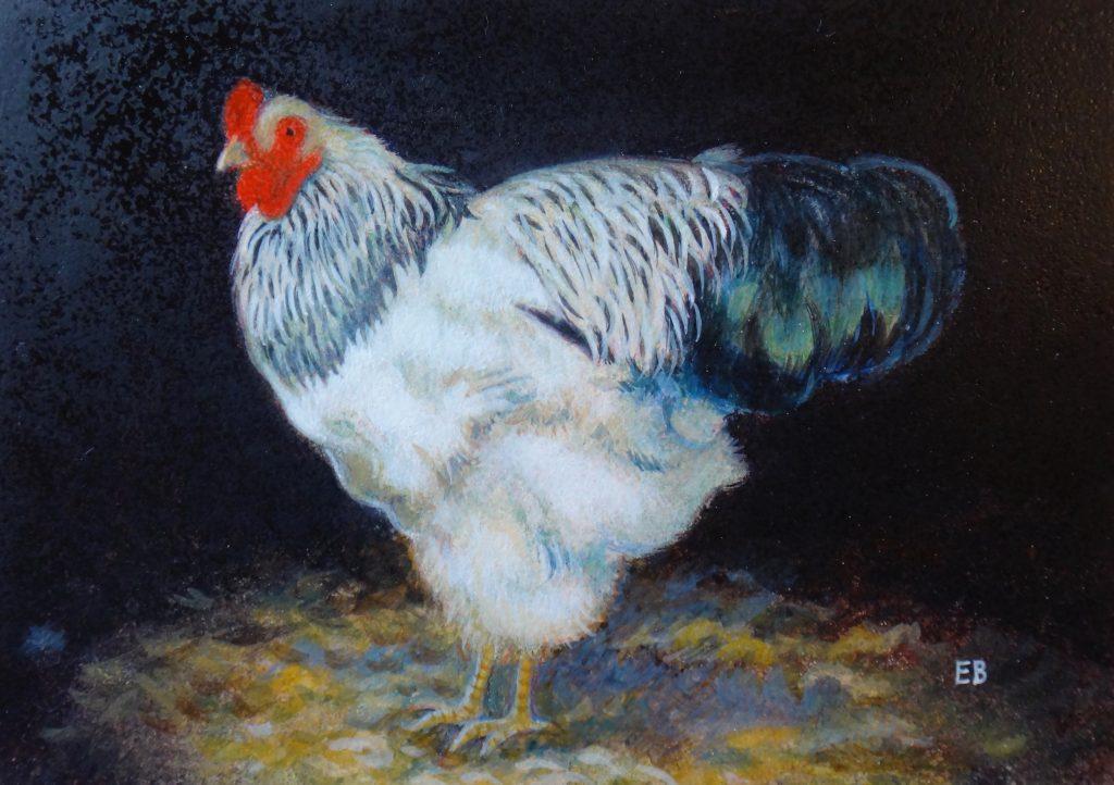 """""""Henry"""", 5x7, egg tempera"""