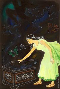 """""""Pandora's Box"""", Gouache"""