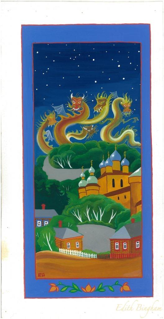 """""""Five Dragons"""", Goache"""