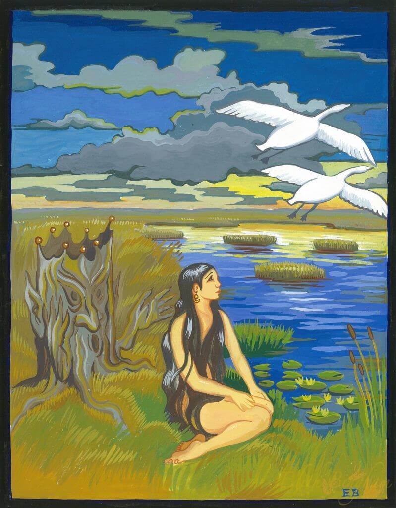 """""""The Marsh King's Daughter"""", Goauche"""